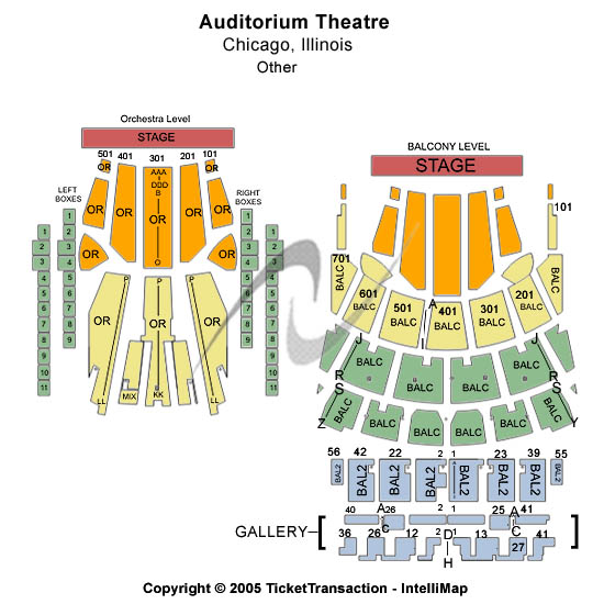 Auditorium Theatre - IL Seating Chart