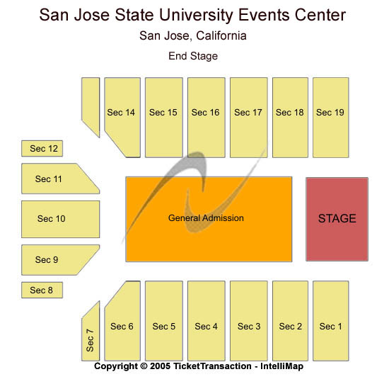 San Jose State University Event Center Tickets Venues