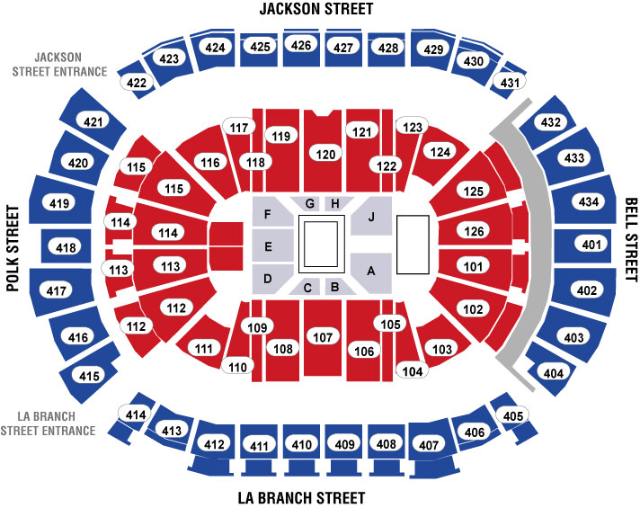 Toyota Center - TX Seating Chart