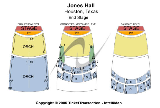 jones hall seating chart houston symphony: Jones hall for the performing arts tickets jones hall for the