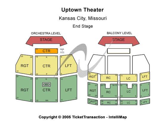 kansas city starlight theatre seating chart. Theater seating map