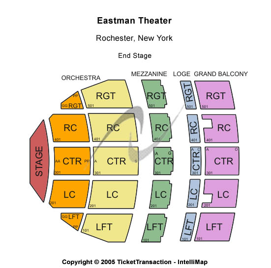 Eastman Theatre Seating Chart