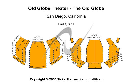 Old Globe Theatre - The Old Globe Seating Chart
