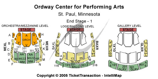 Ordway Center For Performing Arts Seating Chart