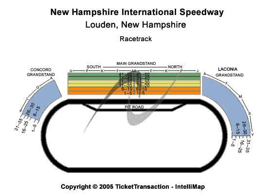 New Hampshire Motor Speedway Seating Chart