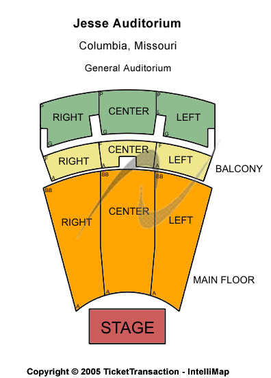 The Pink Floyd Experience Tickets 2012-03-15  Columbia, MO, Jesse Auditorium