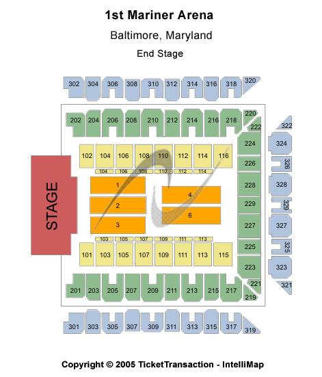 1st Mariner Arena Tickets