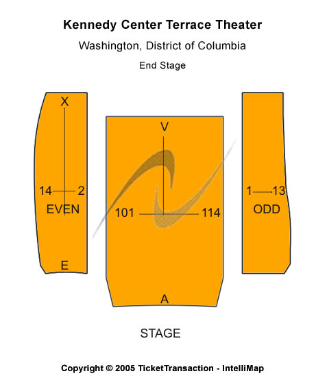 Kennedy Center Terrace Theater Seating Chart