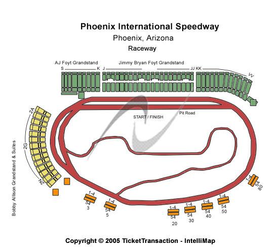 Phoenix International Raceway Seating Chart