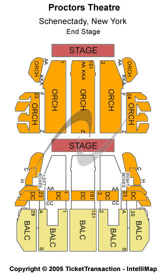 Proctors Theatre Seating Chart