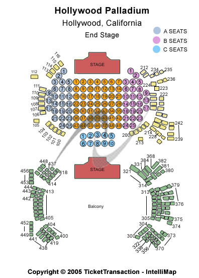 Hollywood Palladium Seating Chart