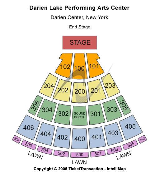 Darien Lake Performing Arts Center Seating Chart Ny Darien Lake