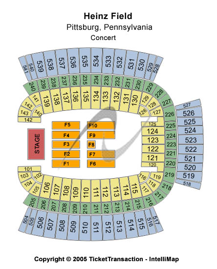 Heinz field tickets front row king