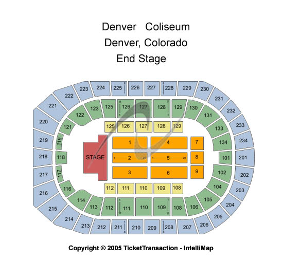 Denver Coliseum Seating Chart