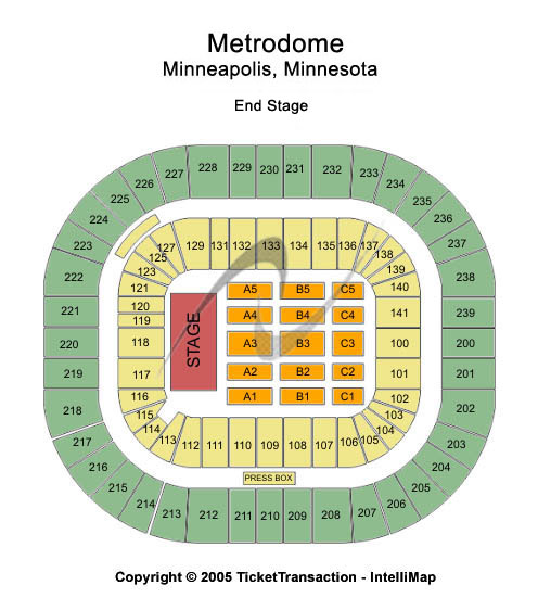 Mall of America Field At Hubert H Humphrey Metrodome Seating Chart