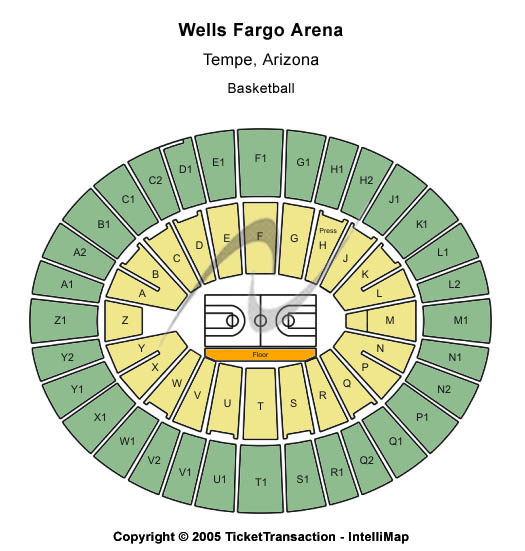 Arizona State Sun Devils vs. Washington Huskies Tickets 2013-02-23 Tempe, AZ, Wells Fargo Arena - AZ