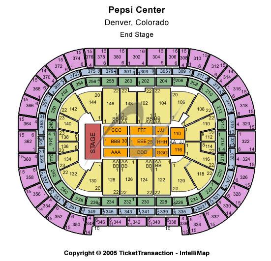 Pepsi Center , Event Schedule