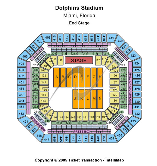 Sun Life Stadium  Seating Chart
