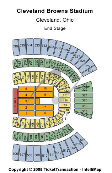 FirstEnergy Stadium  Seating Chart