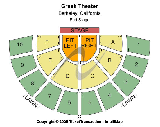 Click on seating chart to open