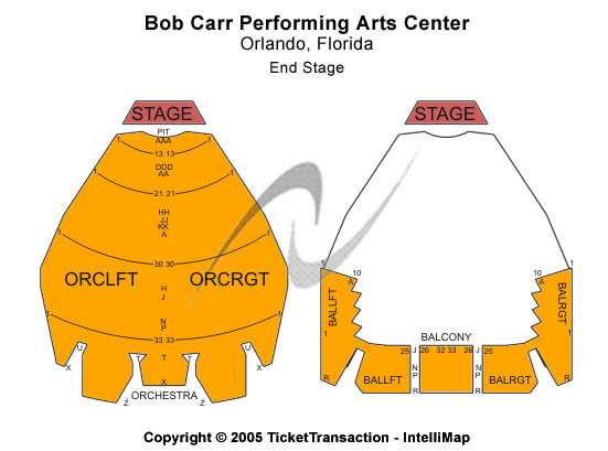 Bob Carr Performing Arts Centre Seating Chart