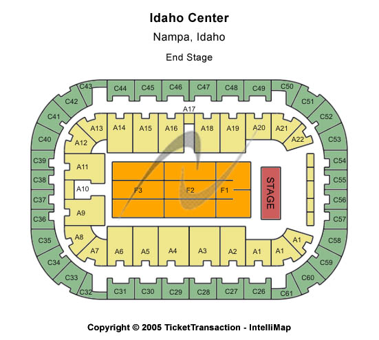 Bob Seger Arena At Ford Idaho Center Seating Chart