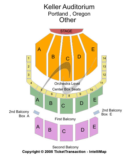 Keller Auditorium Seating Chart