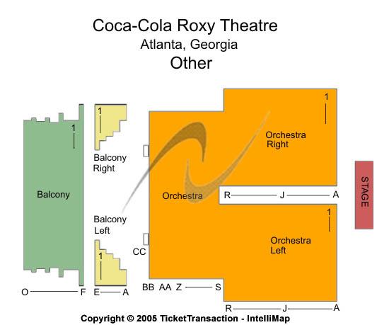 Glass Animals Roxy Theatre - GA Seating Chart