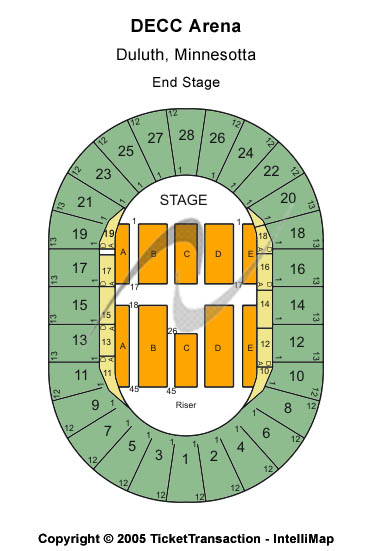 DECC - Arena Seating Chart