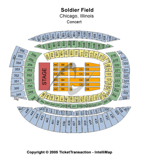 Soldier Field Stadium Seating Chart