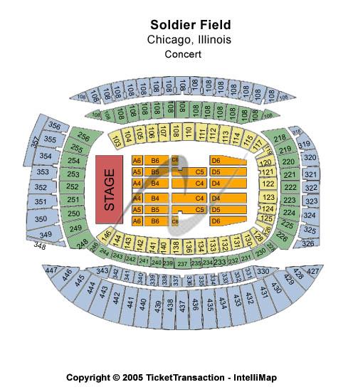 Soldier Field Stadium Seating Chart