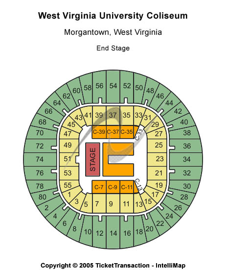 West Virginia Mountaineers vs. Presbyterian Blue Hose Tickets 2013-11-23  Morgantown, WV, West Virginia University Coliseum