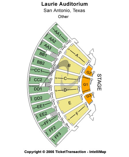 Laurie Auditorium Seating Chart