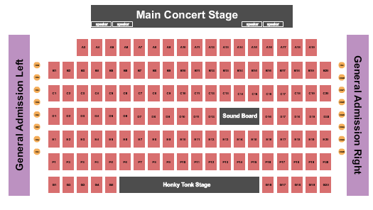 Seatmap for billy bobs