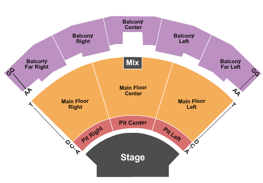 Seatmap for brown county music center