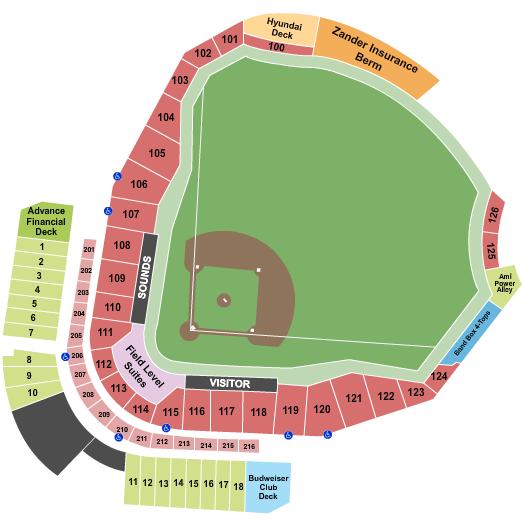 Seatmap for first horizon park