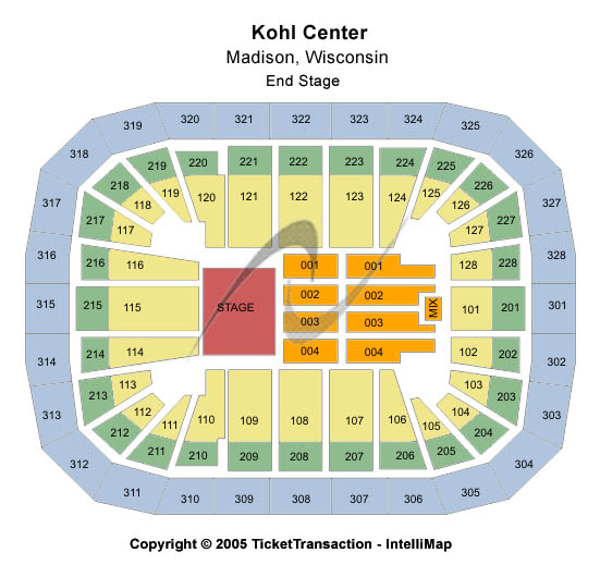 Wisconsin Badgers vs. Ohio State Buckeyes Tickets 2013-02-17 Madison, WI, Kohl Center