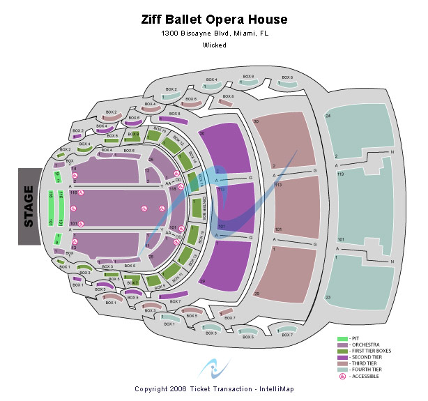 Ziff Opera House At The Adrienne Arsht Center Seating Chart