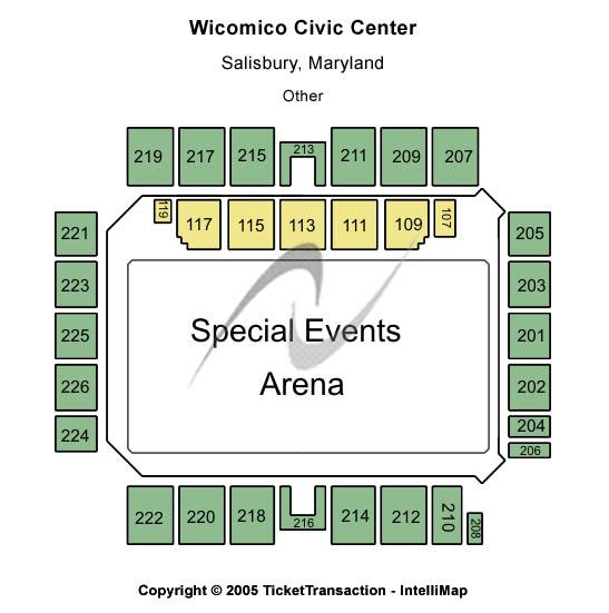 Wicomico Civic Center Seating Chart Plan