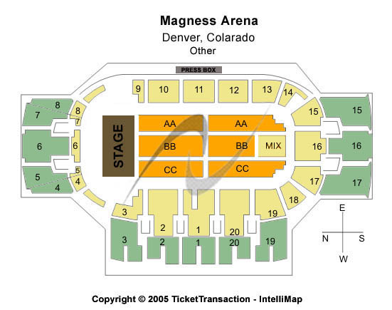 Magness Arena Seating Chart