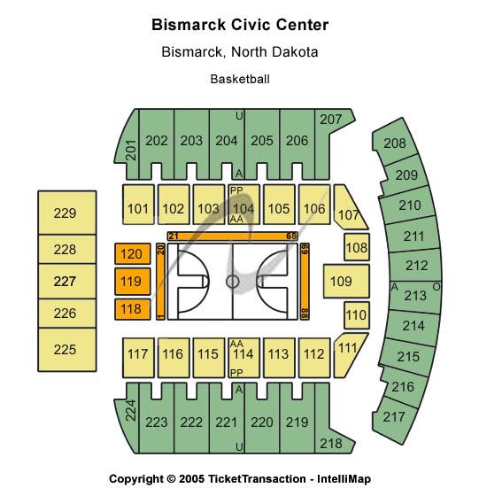 Bismarck Event Center Floor Plan