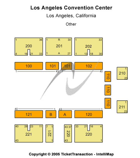 Los Angeles Convention Center Seating Chart