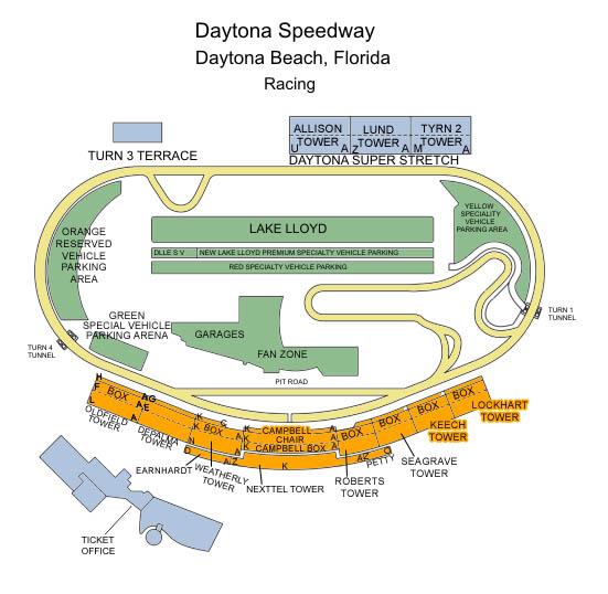 daytona 500 seating chart 2016