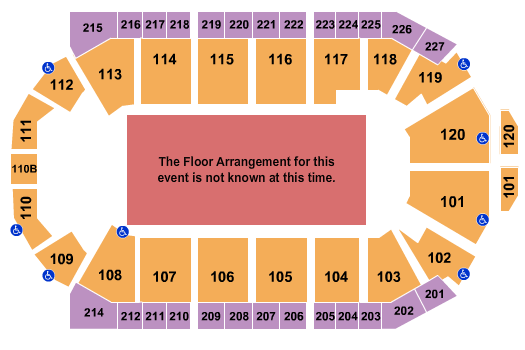 1stBank Center Floor Plan