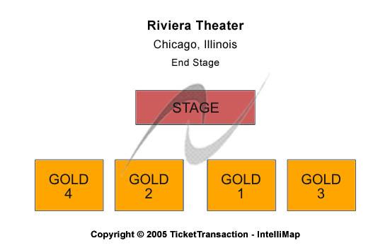 Riviera Theatre - IL Seating Map