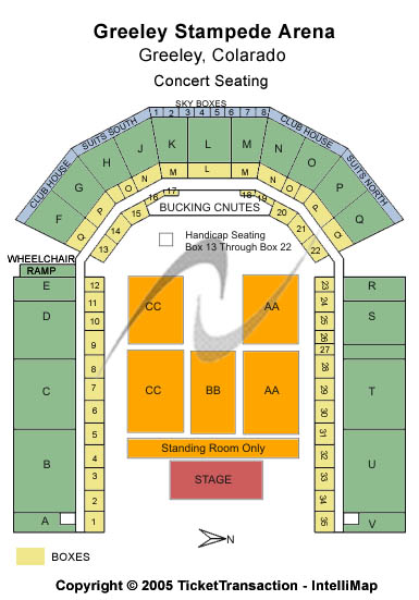 Stampede Arena - Greeley Floor Plan