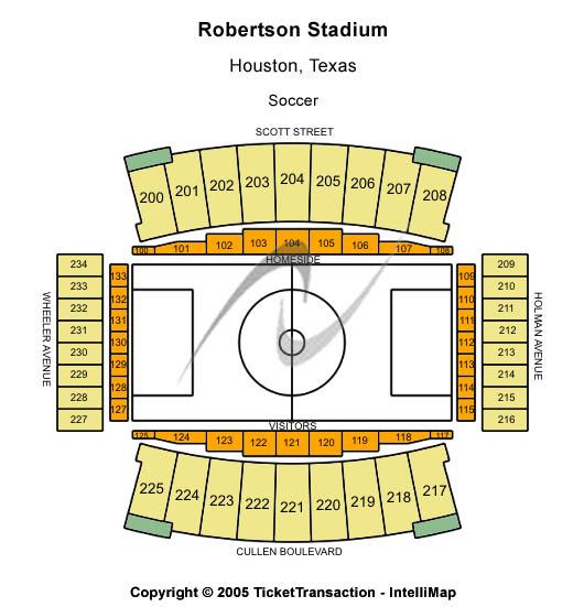 TDECU Stadium Seating Map