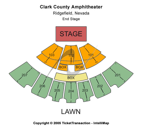 Clark County Govt Center Amphitheatre - NV Seating Chart