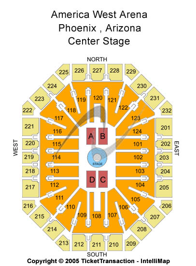 Arizona Rattlers Vs Green Bay Blizzard Tickets At Talking Stick - Us airways arena map