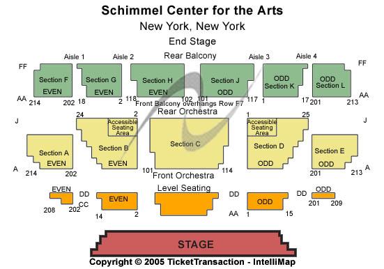 Schimmel Center For The Arts Seating Chart